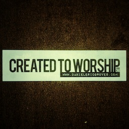Created to Worship Sticker